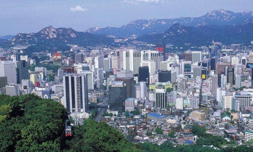 La ville depuis le mont Namsan.