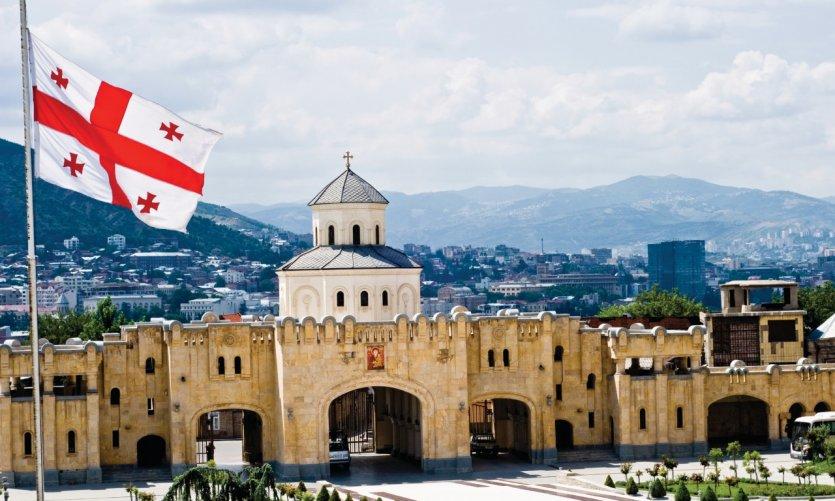 Panorama de Tbilissi depuis l'église de Sameba.