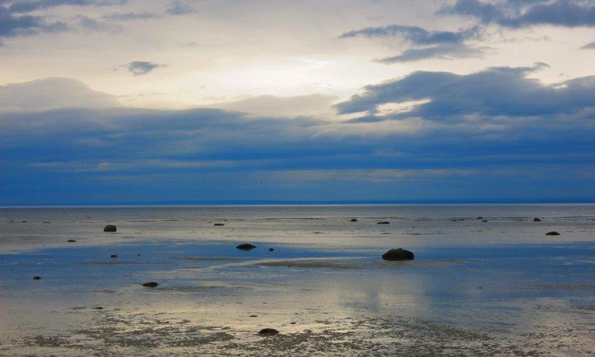 Plage de Tadoussac à marée basse.