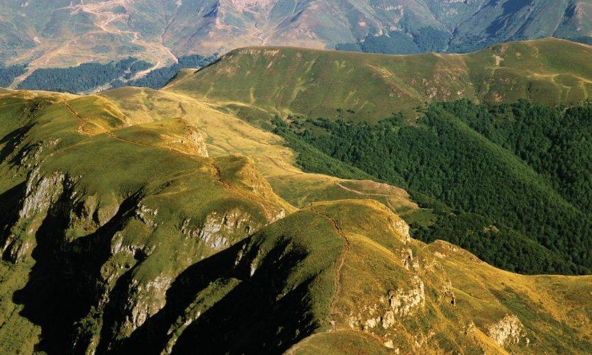 Parc naturel des volcans d'Auvergne.