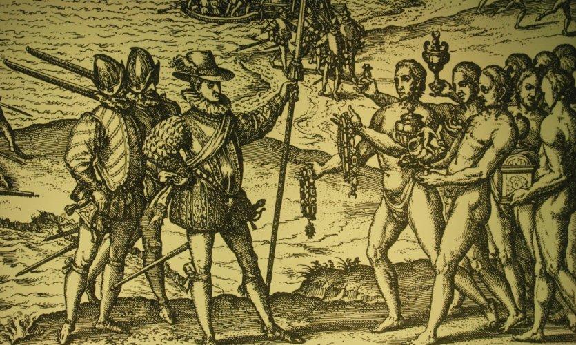 Rencontres entre conquistadors et incas.