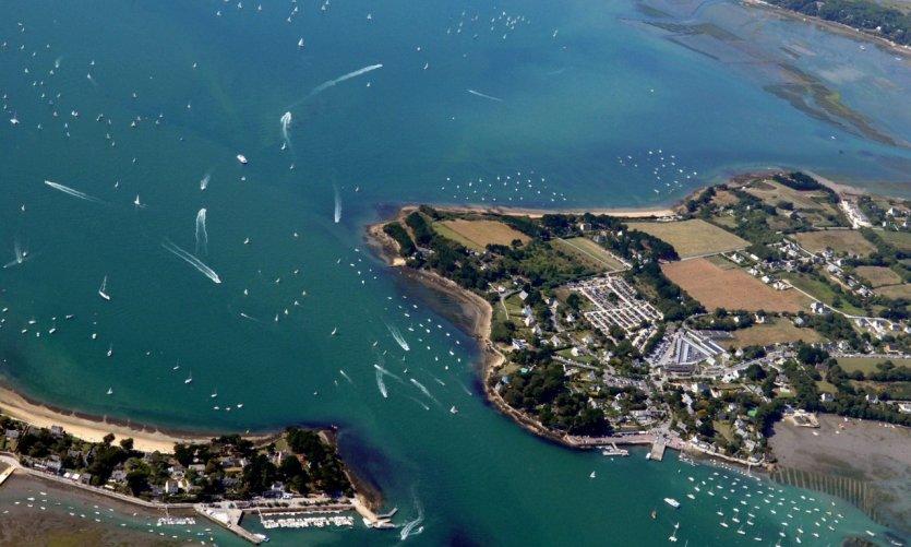 La pointe du Monteno dans le golfe du Morbihan