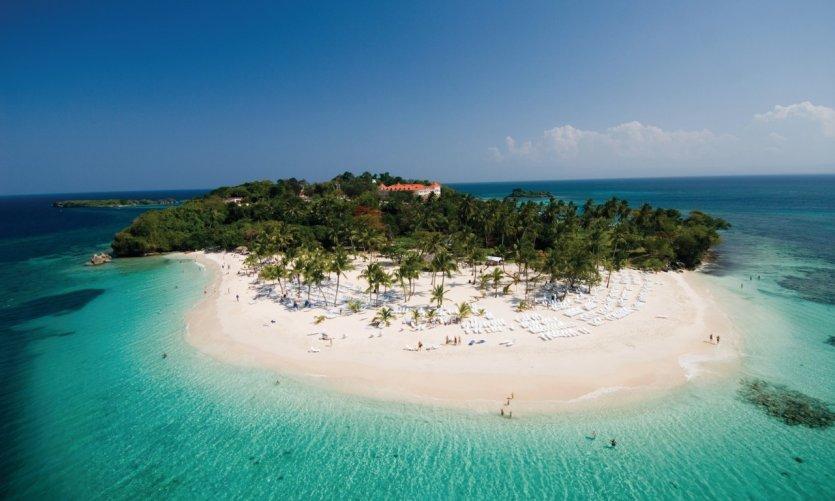 Cayo Levantado, îlot à 15 minutes de Samaná.