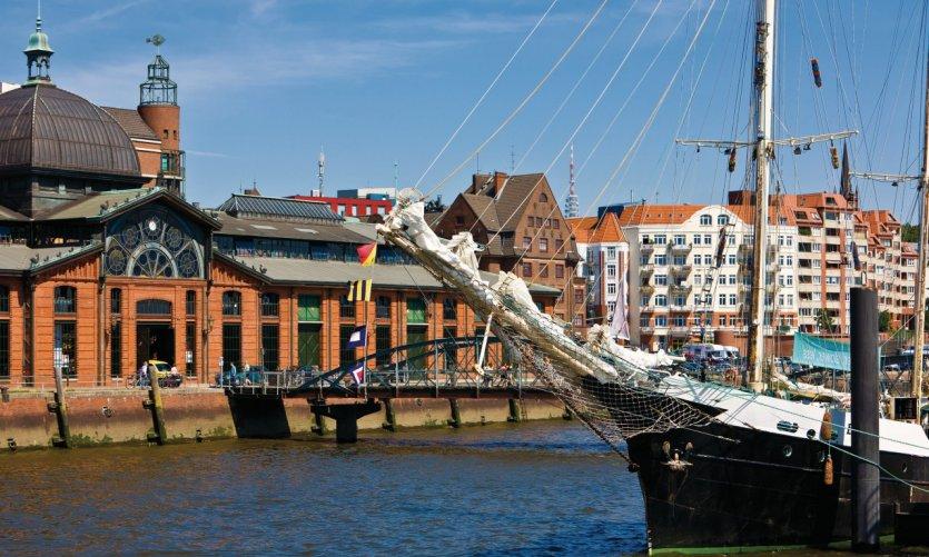 Les quais de Hambourg.