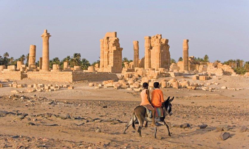 Ruines du temple de Soleib dédié à Amon.