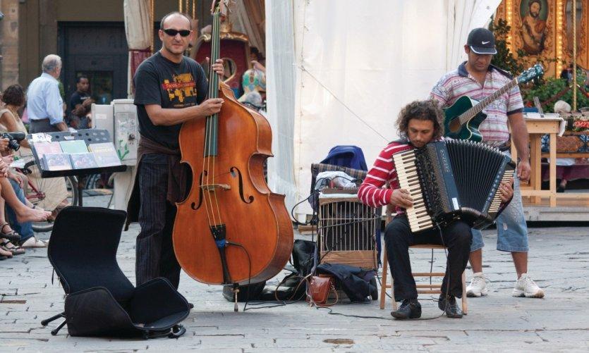 Musiciens de rue.