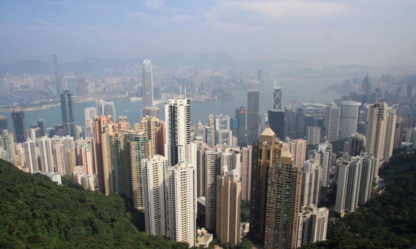 Panorama sur Hong Kong Island.