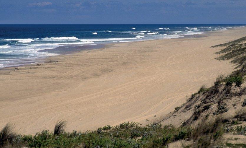 Sur la plage de Mimizan-Plage