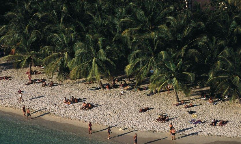 Vue aérienne de la plage de Saint-François.