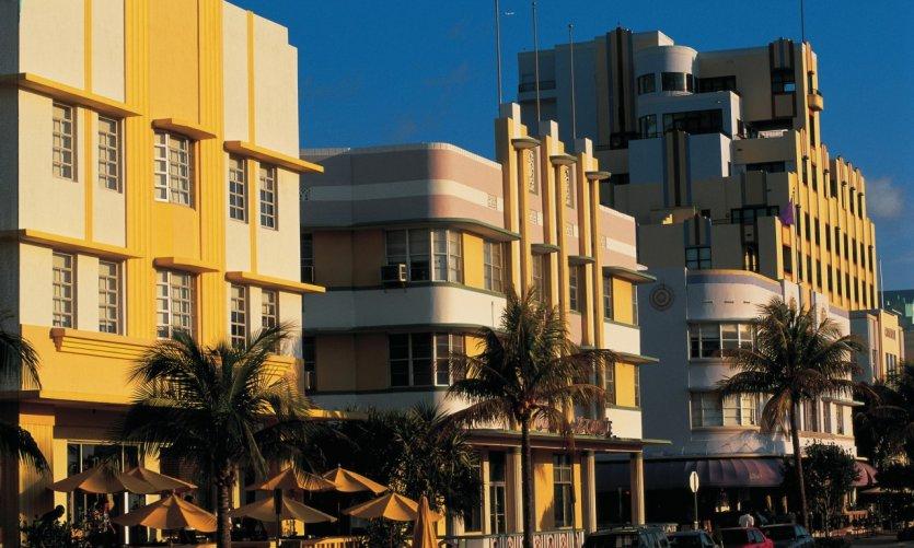 Ocean Drive à Miami Beach.