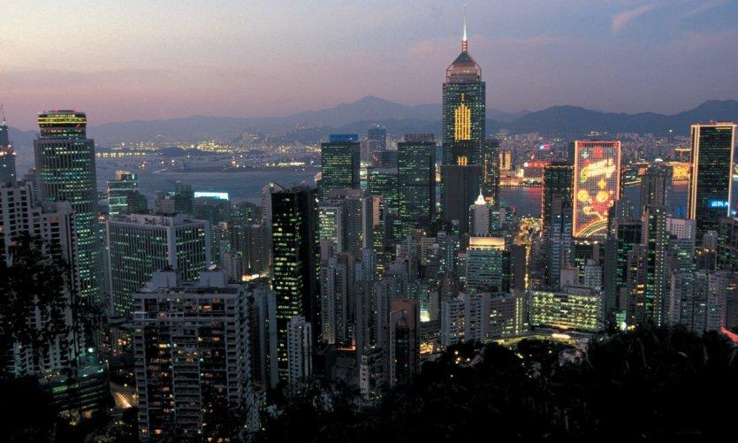 Hong Kong au crépuscule.