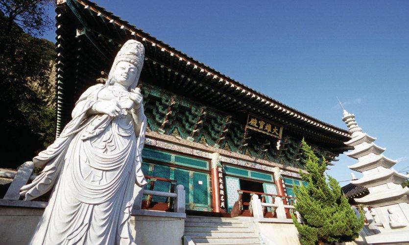 Temple boudhiste du Mont Apsan sur Jeju Island.
