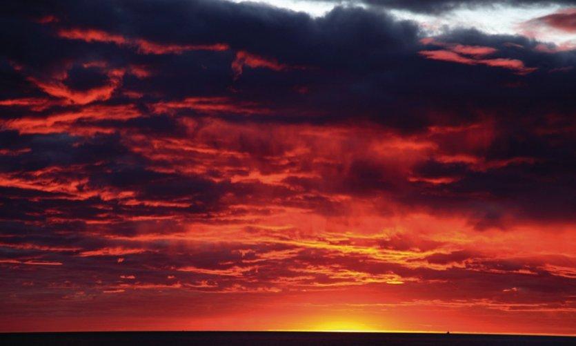 Puesta de sol en Mahajanga