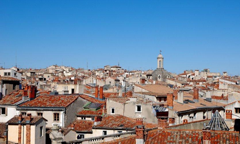 Vue sur les toits de Montpellier.