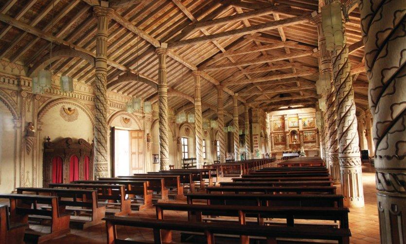 <p>Iglesia de la Misión Jesuita de San Javier.</p>