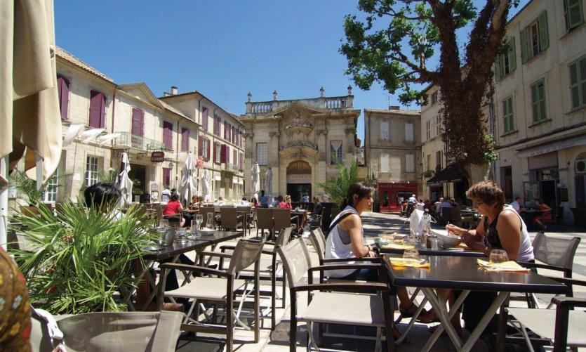 La place Crillon, Avignon.