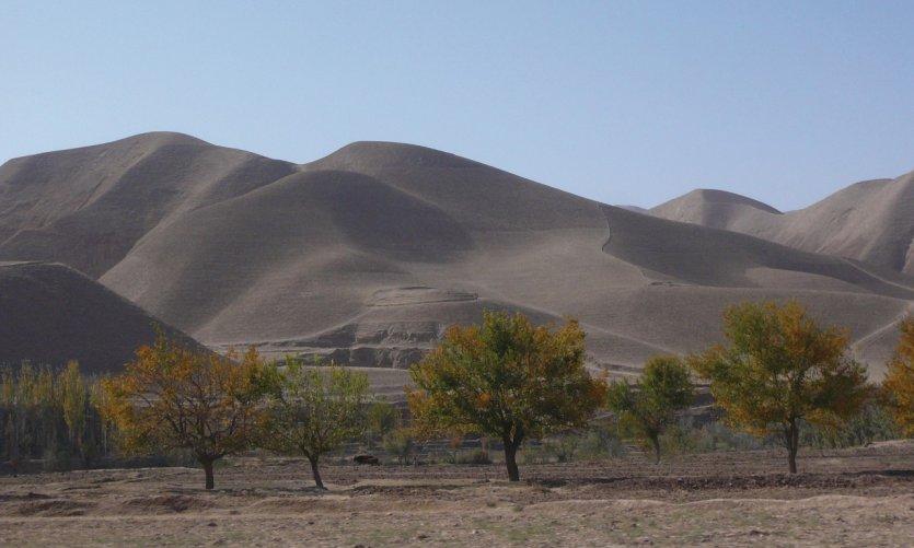 Désert de Dasht-e-Laili, entre Maïmana et Sherberghan.