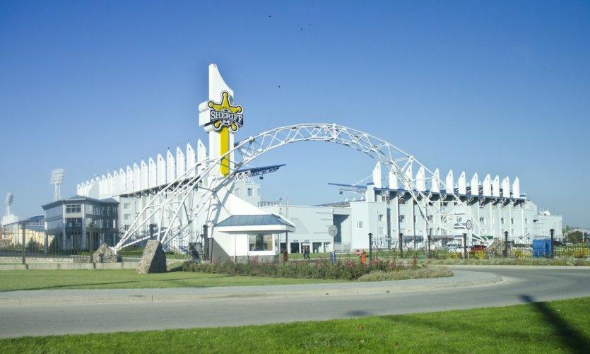 <p>Stade de football Sheriff à Tiraspol.</p>
