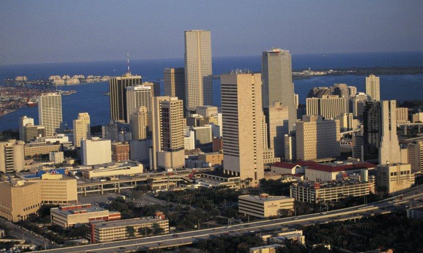 Vue générale de Miami.