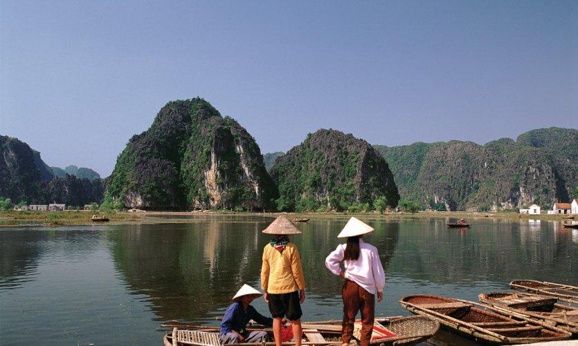 Tam Coc, ancien repère des rois de la dynastie Dinh.
