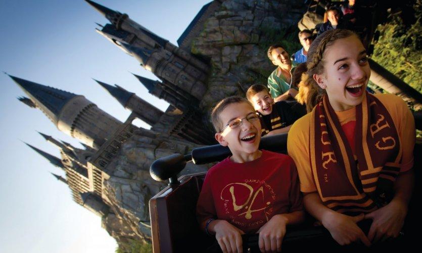 Le monde d'Harry Potter au parc d'attraction Universal Studio d'Orlando.