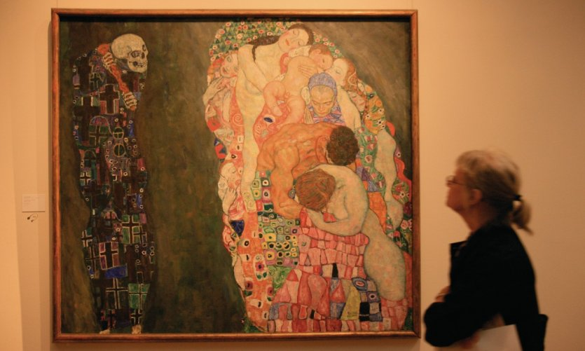 Vie et Mort, oeuvre de Klimt exposée au Leopold Museum.