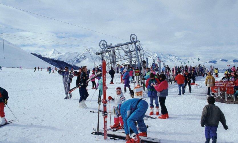 Piste de ski dans les Hautes-Pyrénées