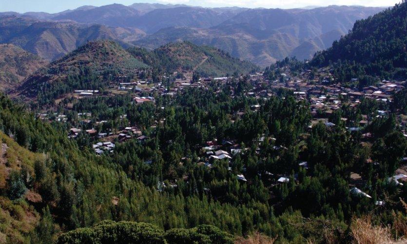 Sur les routes nord-éthiopiennes, arrivée à Dessié.