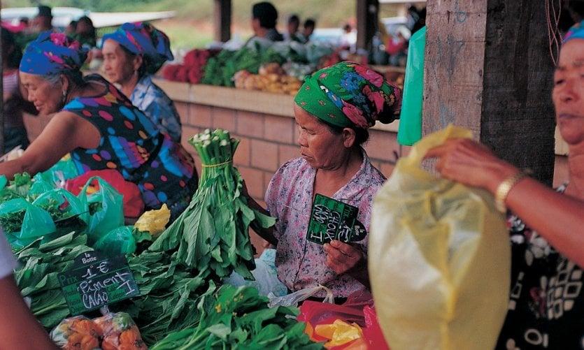 Marché hmong.