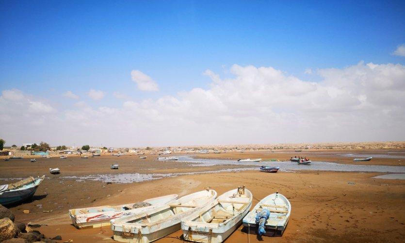 El puerto de Obock.... en marea baja.