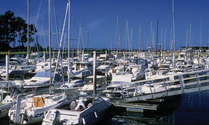 Le port de plaisance de Taussat.