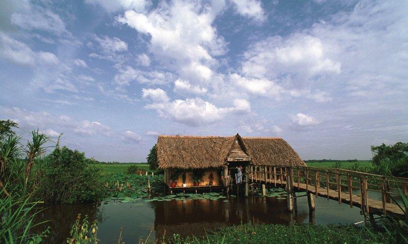Maison sur pilotis à Tây Ninh.