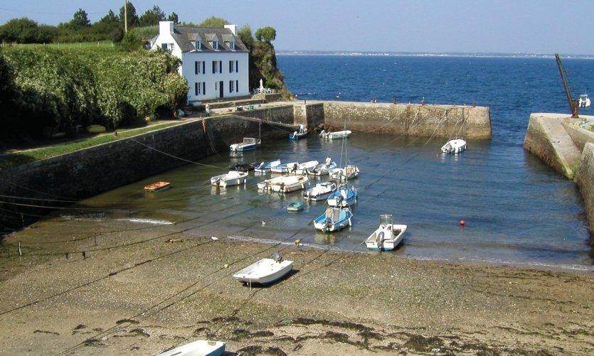 Port Lay sur l'île de Groix