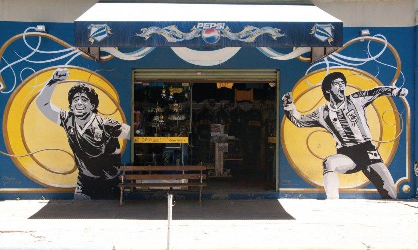 Boutique officielle de Boca Juniors, l'une des deux grandes équipes de football de la ville.