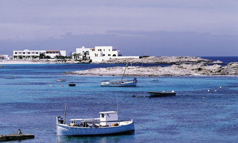 Paysage côtier de Es Pujols.