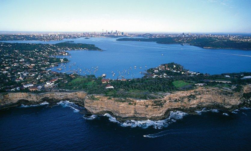 Vue de la baie de Sydney.