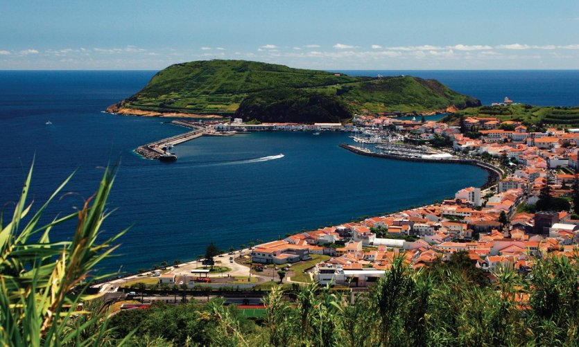 Port of Horta, Faial Island.