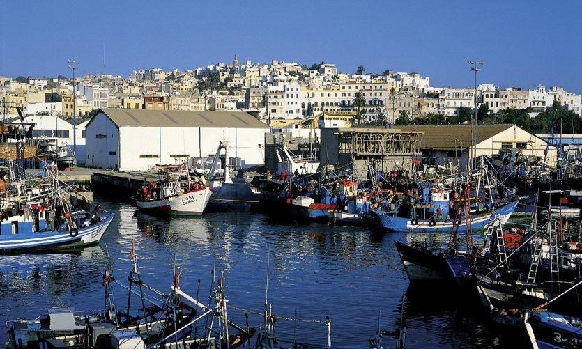 Port de pêche de Tanger.