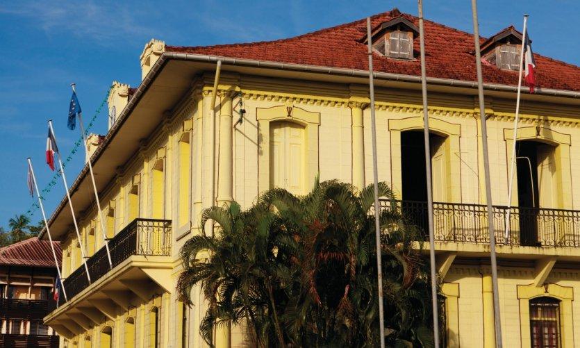 Centre-ville de Cayenne.