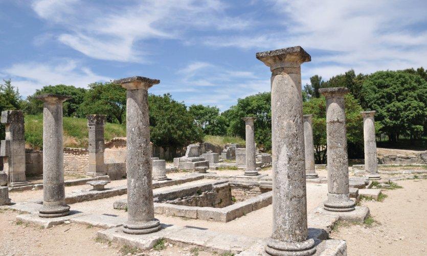 Les ruines de ville romaine antique Glanum.