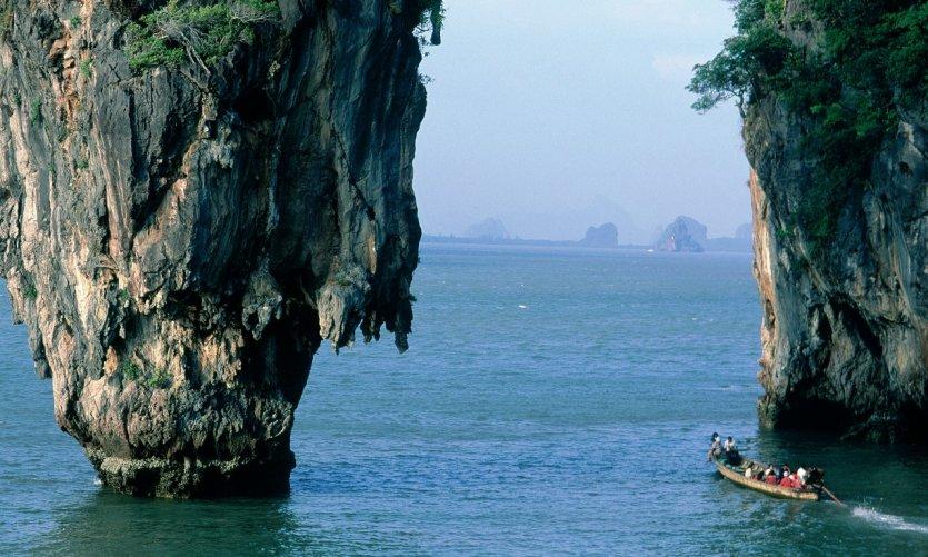 Baie de Phang Nga, île de Ko Tapu.