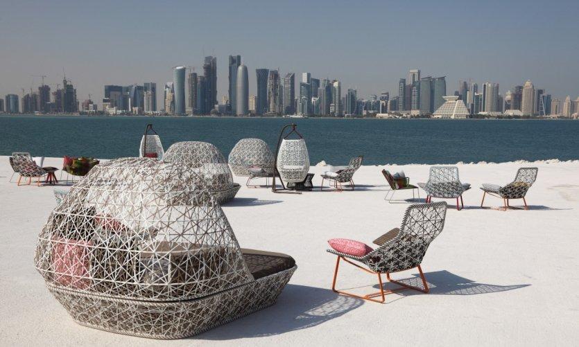 Café avec une superbe vue sur la ville de Doha.