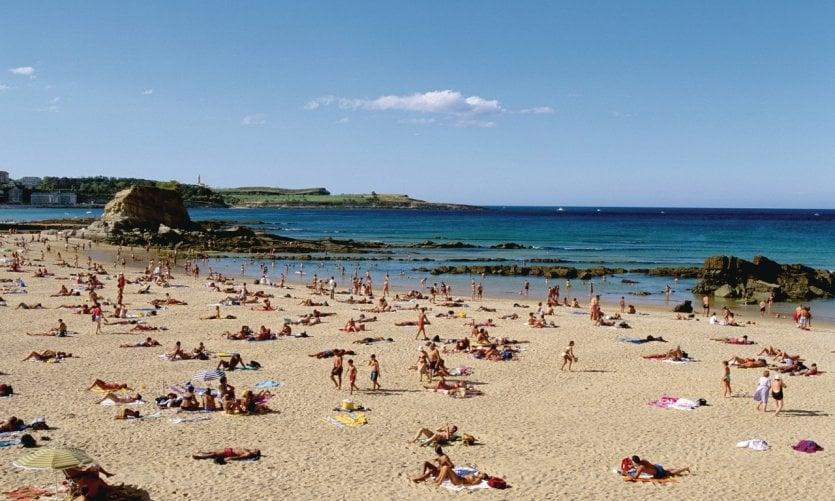 <p>Sur les plages de Santander</p>