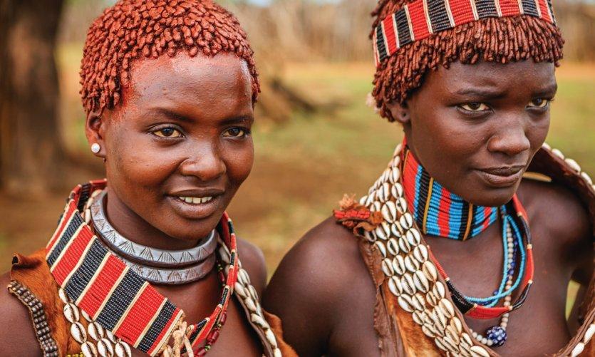 Les membres de la tribu Hamer vivent dans sud-ouest de l'Éthiopie.