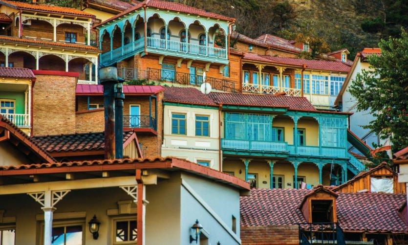 Façades de Tbilissi.