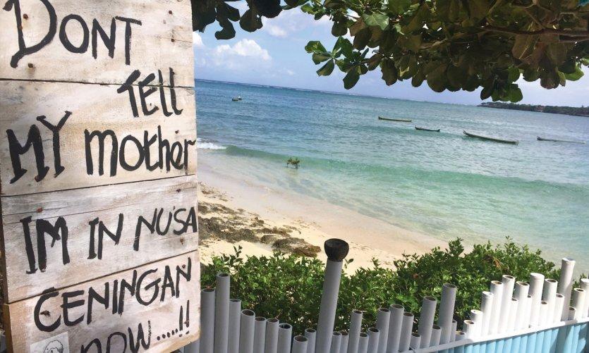 <p>Détente à Nusa Ceningan.</p>