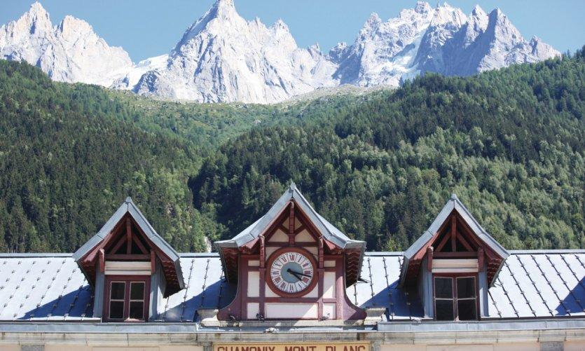 La gare de Chamonix - Mont-Blanc