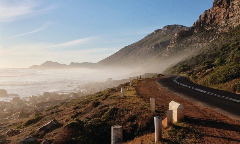 Carretera costera cerca del Cabo de Buena Esperanza