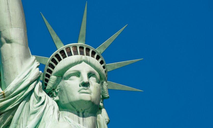 Statue de la Liberté sur Liberty Island.
