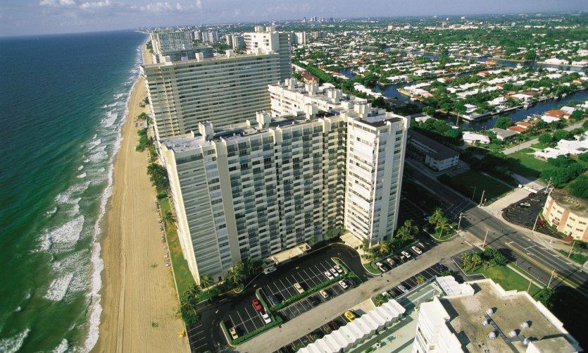 Vue aérienne de Fort Lauderdale.